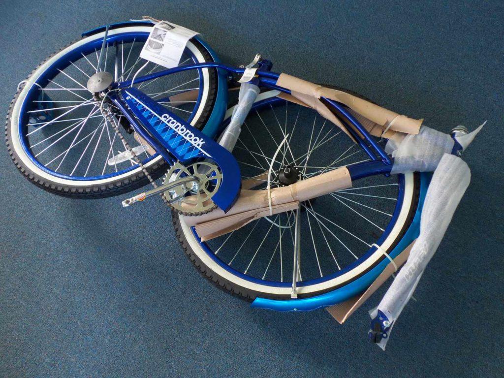 bicicleta desmontada para envio